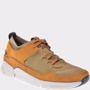 Pantofi Clarks Galbeni, 6135641, Din Piele Naturala