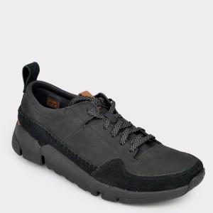 Pantofi CLARKS negri, Triacru, din nabuc