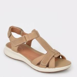 Sandale CLARKS maro, Unadovi, din nabuc