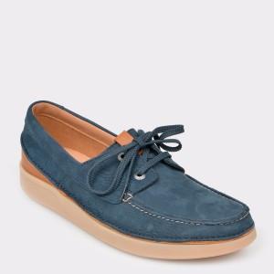 Pantofi CLARKS bleumarin, Oaklsun, din nabuc