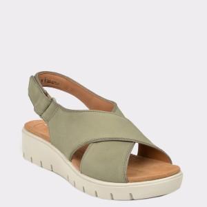 Sandale CLARKS gri, Unkarsu, din nabuc