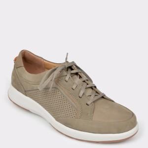 Pantofi CLARKS verzi, Untrafo, din nabuc