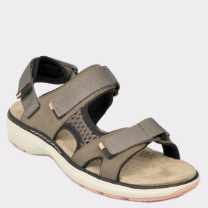 Sandale CLARKS kaki, Unroast, din nabuc