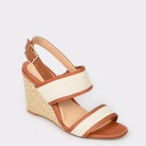 Sandale CLARKS maro, Imagwea, din piele intoarsa
