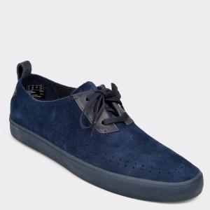 Pantofi CLARKS bleumarin, Kessfly, din piele intoarsa