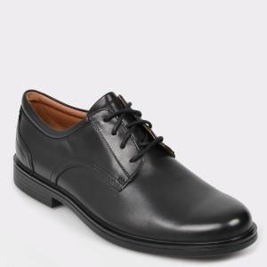 Pantofi CLARKS negri, Unaldla, din piele naturala