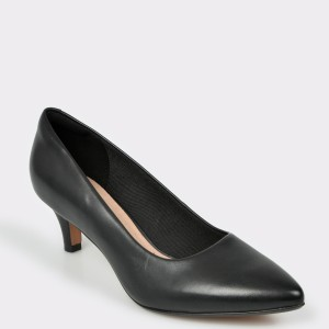 Pantofi CLARKS negri, Linvjer, din piele naturala