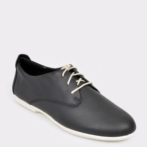 Pantofi CLARKS negri, Uncorla, din piele naturala