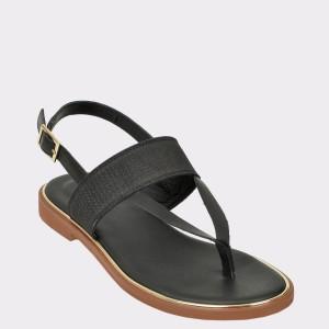 Sandale CLARKS negre, Elliopa, din piele naturala