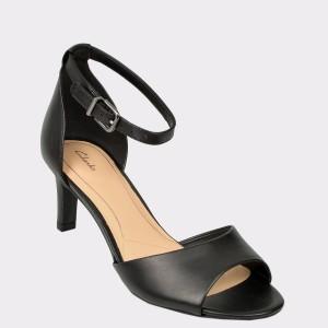Sandale CLARKS negre, Laurgra, din piele naturala