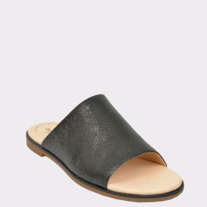 Papuci CLARKS negri, Baypeta, din piele naturala