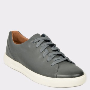 Pantofi CLARKS albastri, Uncosla, din piele naturala