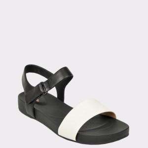 Sandale CLARKS albe, Brigpac, din piele naturala