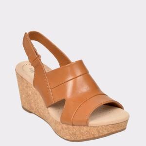 Sandale CLARKS maro, Annaivo, din piele naturala
