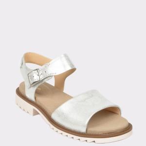 Sandale CLARKS argintii, Fernfam, din piele naturala