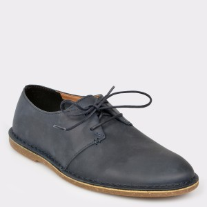 Pantofi CLARKS bleumarin, Baltlac, din piele naturala