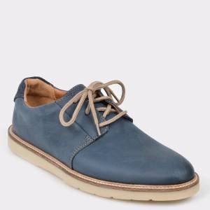 Pantofi CLARKS bleumarin, Granpla, din piele naturala