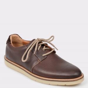 Pantofi CLARKS maro, Granpla, din piele naturala