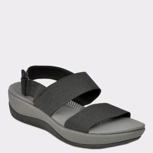 Sandale CLARKS negre, Arlajac, din material textil