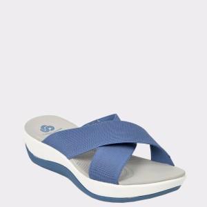 Papuci CLARKS albastri, Arlaeli, din material textil