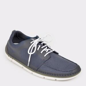 Pantofi CLARKS bleumarin, Stemaso, din material textil