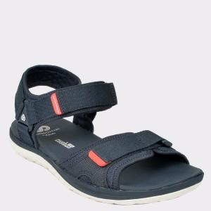 Sandale CLARKS bleumarin, Stebesu, din material textil