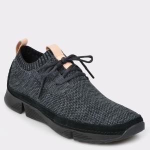 Pantofi sport CLARKS negri Trinati din material textil