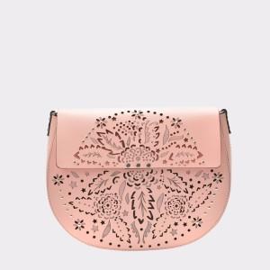 Poseta CROMIA roz, 3682, din piele naturala