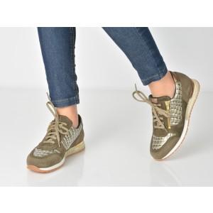 Pantofi Sport Image Verzi, 4611, Din Piele Intoarsa