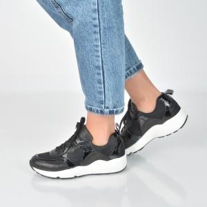 Pantofi sport IMAGE negri, 15853, din piele ecologica