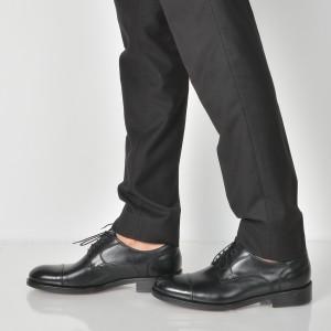 Pantofi Negri, T101, Din Piele Naturala