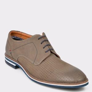 Pantofi SALAMANDER gri, 57330, din nabuc