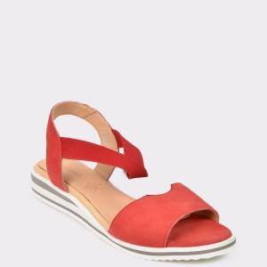 Sandale SALAMANDER rosii, 40415, din piele intoarsa