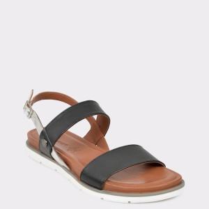 Sandale SALAMANDER negre, 84903, din piele naturala