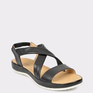 Sandale SALAMANDER negre, 85601, din piele naturala
