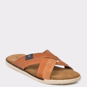 Papuci SALAMANDER maro, 75025, din piele naturala