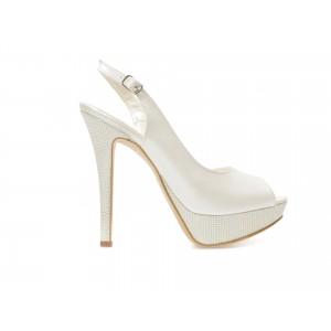 Pantofi EPICA albi, pentru mireasa, 1700, din piele ecologica