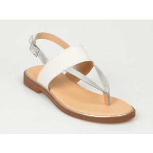 Sandale CLARKS albe, Elliopa, din piele naturala