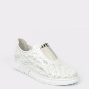 Pantofi sport FLAVIA PASSINI albi, 390402, din piele naturala