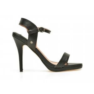Sandale PEPE JEANS negre Ls90275 din piele naturala
