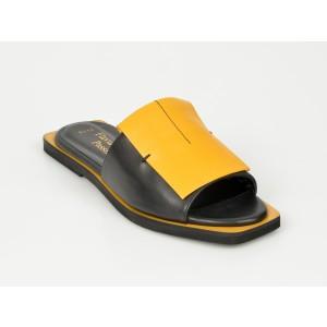 Papuci FLAVIA PASSINI galbeni, N9012, din piele naturala