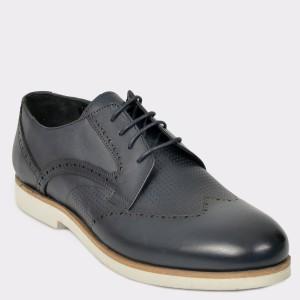 Pantofi Otter Bleumarin, 1024, Din Piele Naturala