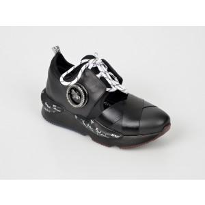 Pantofi sport FLAVIA PASSINI negri, 6236, din piele naturala