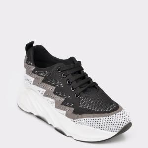 Pantofi sport FLAVIA PASSINI negri, Ot4082, din material textil