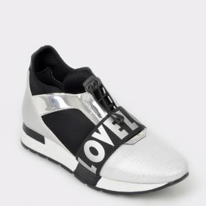 Pantofi sport FLAVIA PASSINI argintii, Ot4064, din material textil