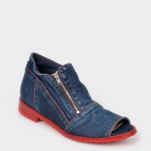 Pantofi FLAVIA PASSINI bleumarin, Ka0209, din material textil