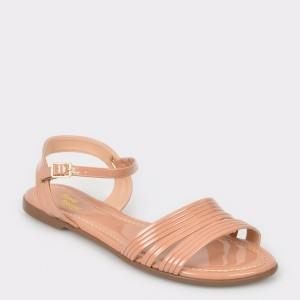 Sandale FLAVIA PASSINI nude, 11563, din piele ecologica lacuita