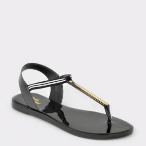 Sandale FLAVIA PASSINI negre, 11496, din piele ecologica lacuita