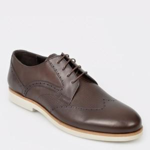 Pantofi OTTER maro, 1024, din piele naturala