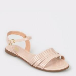 Sandale FLAVIA PASSINI bej, 11563, din piele ecologica lacuita